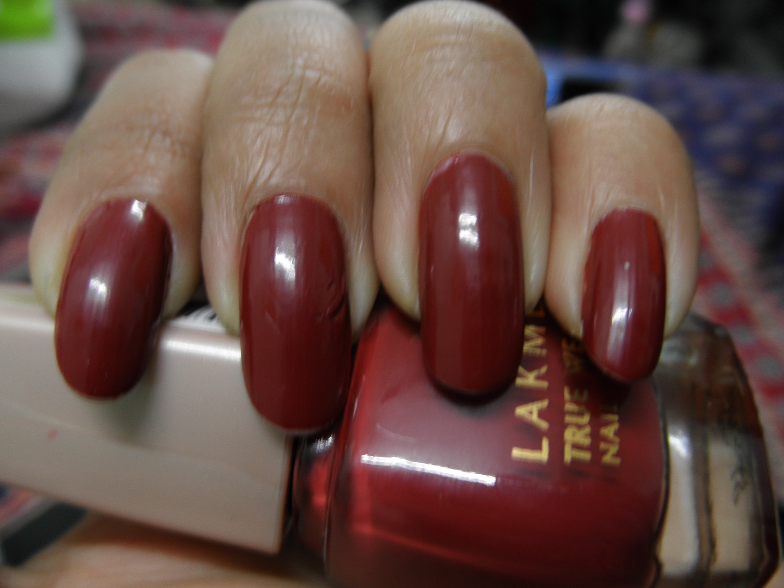Lakme True Wear nail color #D416 Review + NOTD – CORALLISTA