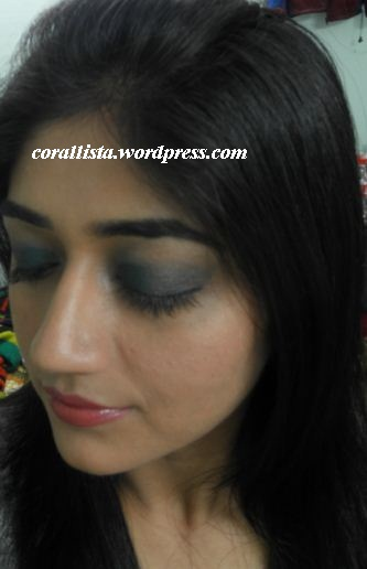 Evening wear look with MAC Siahi and Colorbar Warm palette ...