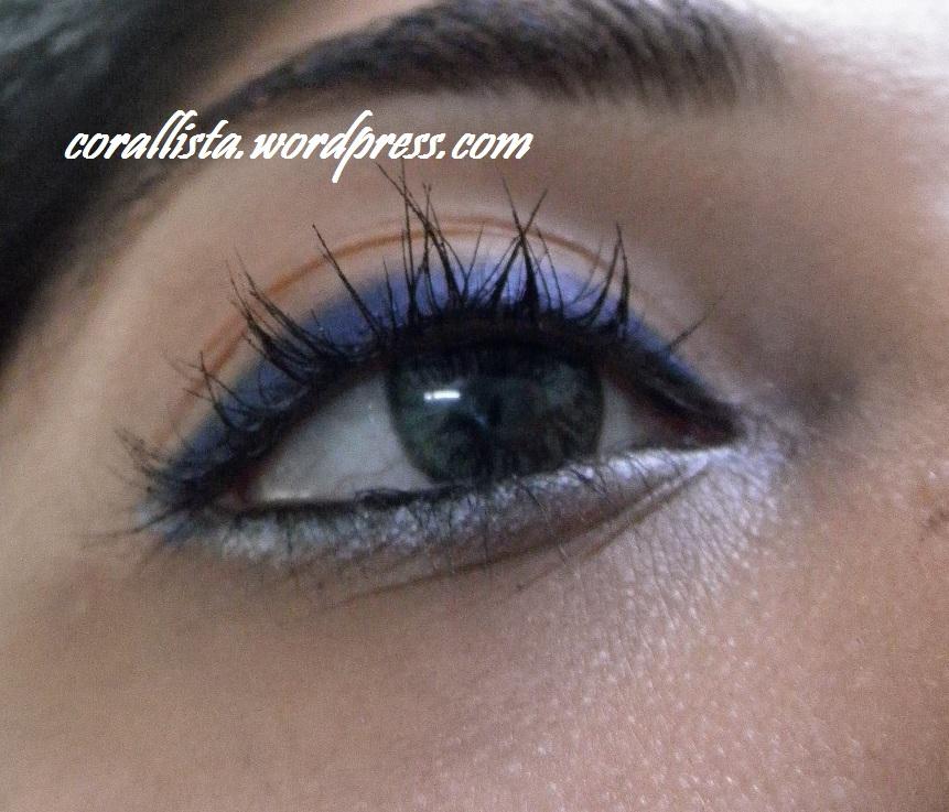 navy blue and silver eye look corallista makeup blog