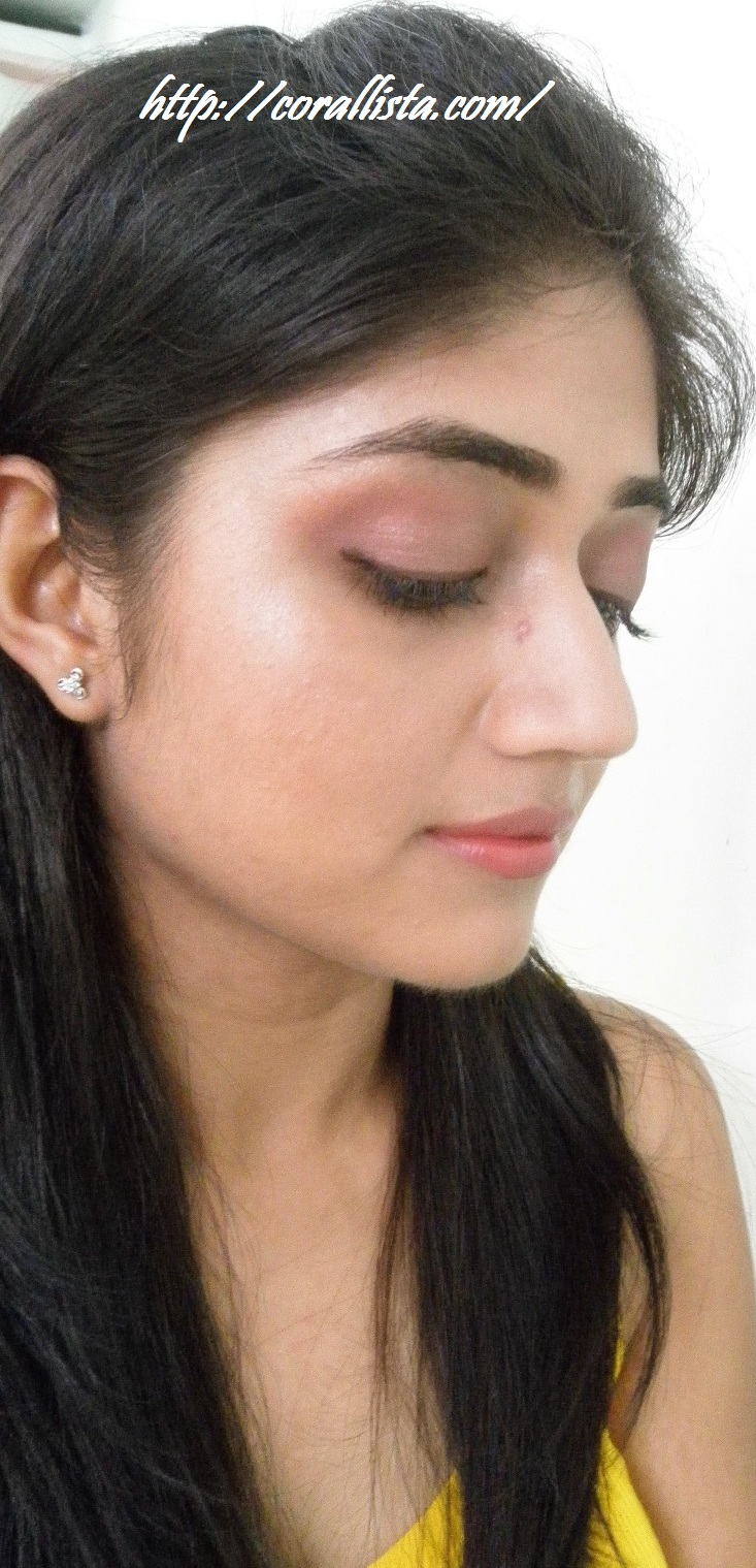 Mac Cranberry Eyeshadow Review Swatch And Demo: Office Wear Subtle Pink Brown Look