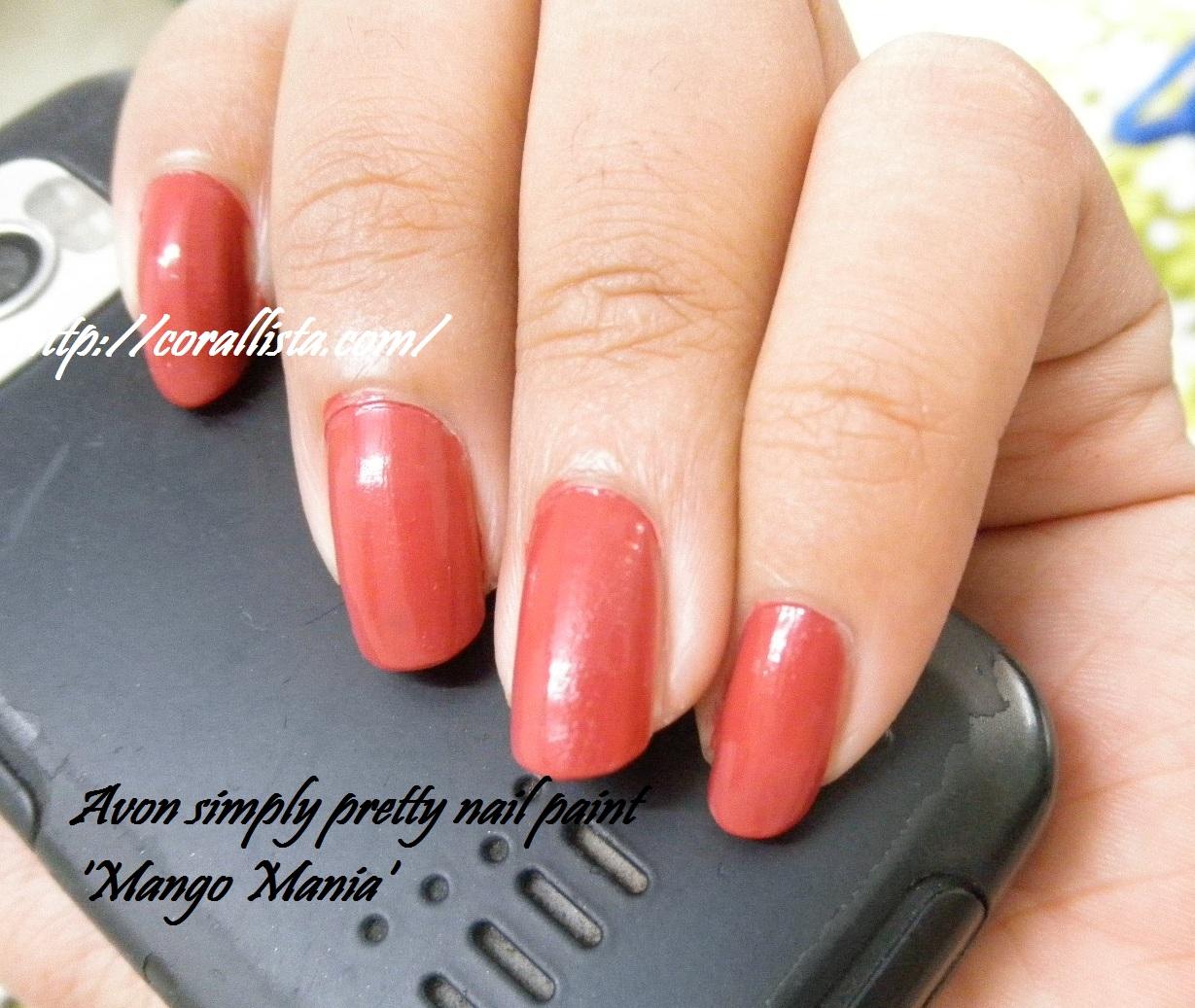 Finger Nail Paint: Nail Of The Day : Avon Simply Pretty Nail Paint 'Mango